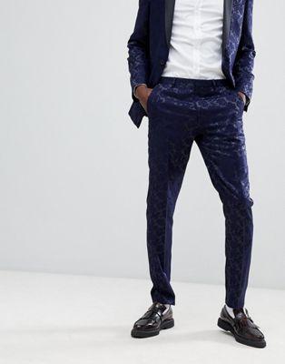 Heart & Dagger tuxedo skinny suit pants