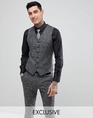 Heart & Dagger Woven In England Skinny Vest