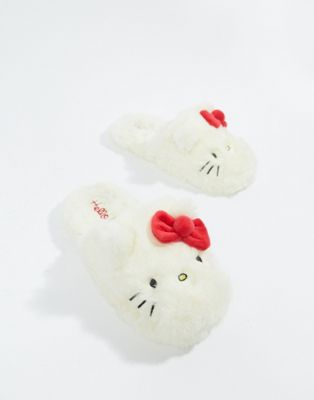 Hello Kitty x ASOS DESIGN fluffy face slipper