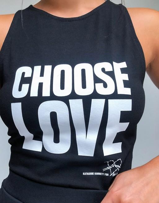 Help Refugees - Choose Love - Body sans manches - Noir CPqHNP