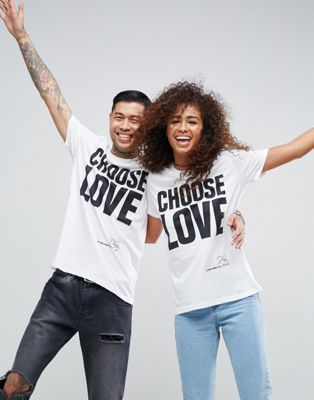 Help Refugees - Choose Love - T-shirt - Blanc