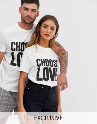 Help Refugees - Choose Love - T-shirt en coton biologique - Blanc