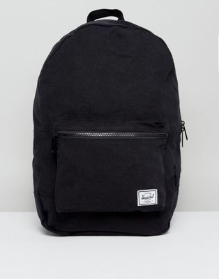 Herschel Supply Co. Packable Daypack in Black Cotton 24.5L