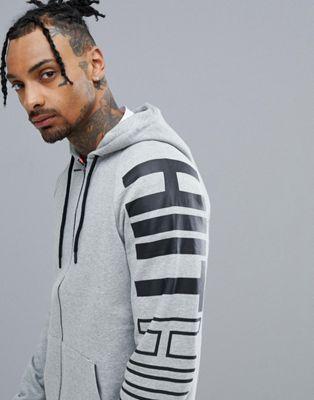 HIIT Zip Through Long Sleeve Jacket In Grey