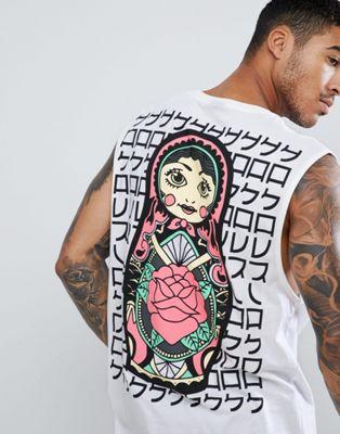 HNR LDN - Doll - T-shirt senza maniche con stampa sul retro