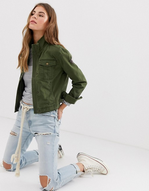 4a45bb9d3 Hollister cropped utility jacket