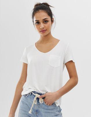 Hollister - T-shirt avec poche drapée