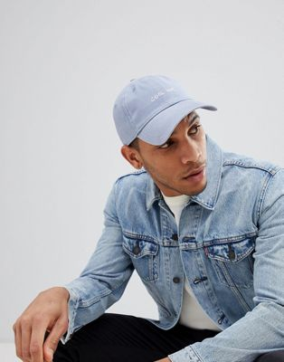 Hollister Twill Baseball Cap in Blue