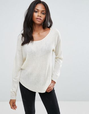 H.One Oversized Crew Neck Wool Blend Jumper