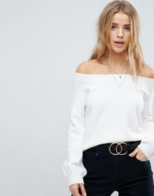 Honey Punch Off Shoulder Crop Jumper