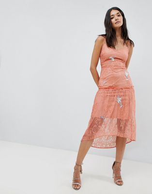 Hope & Ivy Lace Embroidery Cami Dress