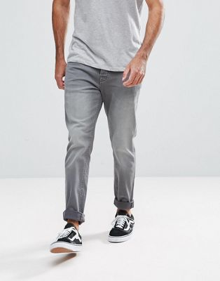 Image 1 of Hoxton Denim Skinny Jeans in Mid Gray