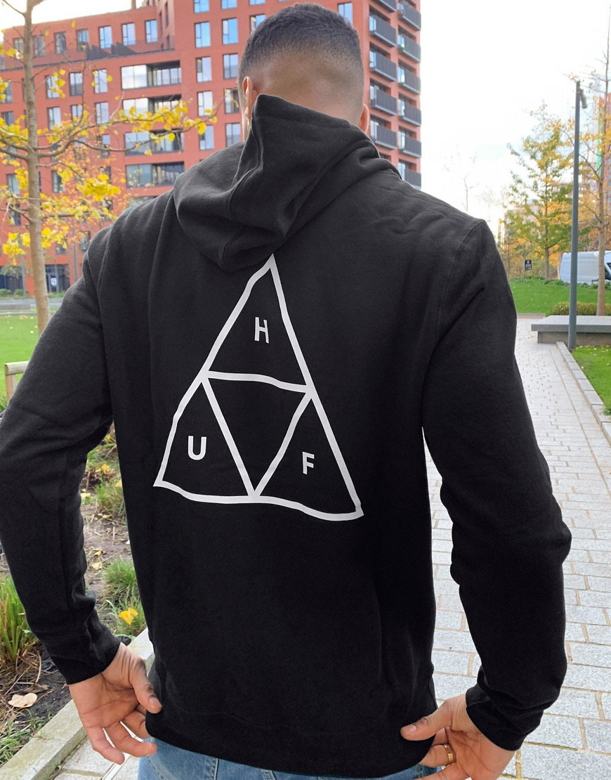 HUF Essentials - Triple Triangle - Hættetrøje i sort