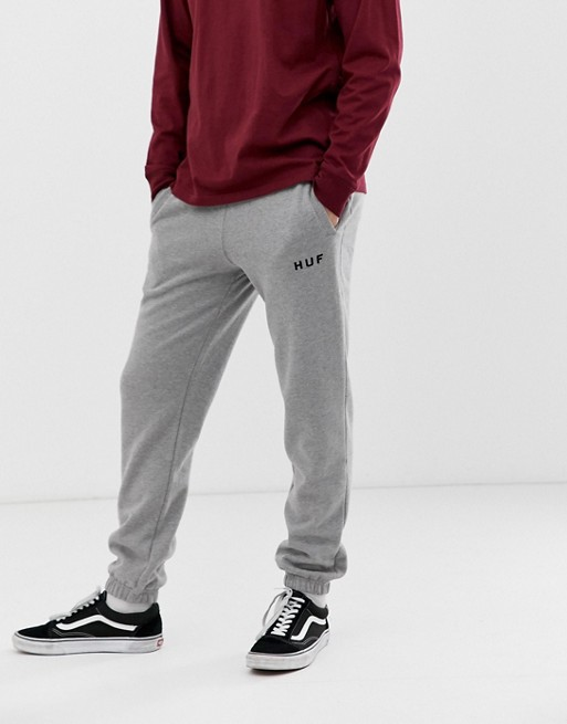Image 1 of HUF original logo sweatpants in gray