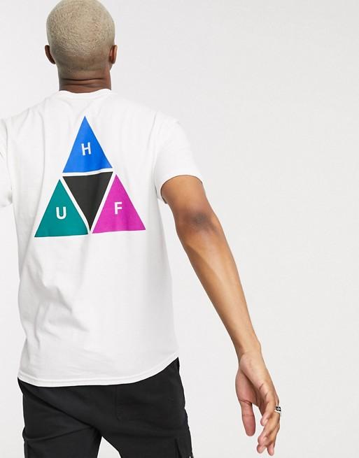 Huf - Prism T-shirt Con Triplo Triangolo Bianca