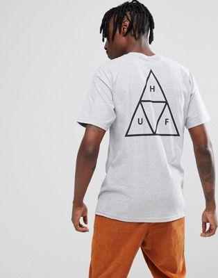 HUF - T-shirt grigia con triplo triangolo
