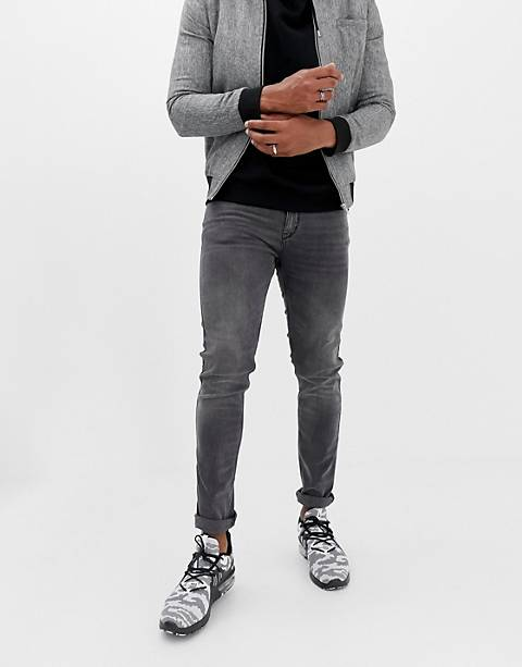 HUGO 734 skinny fit jeans in gray