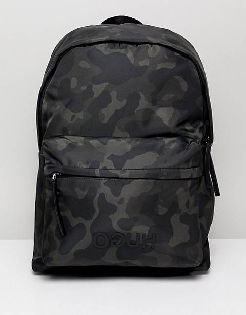 Hugo Record c back pack in camo