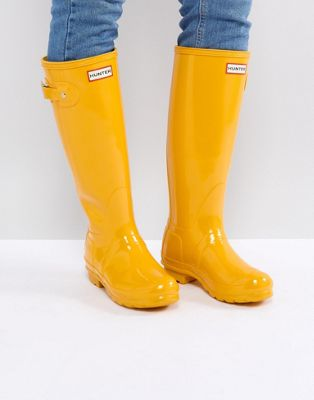 Hunter Original Tall Gloss Yellow Gumboots