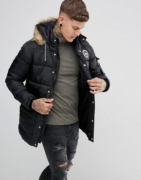 Mens Parka Jacket With Fur Hood | Jackets Review