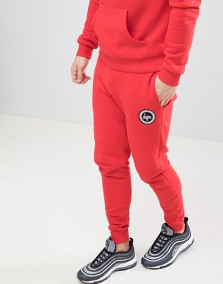 Hype Skinny Logo Sweatpants In Red