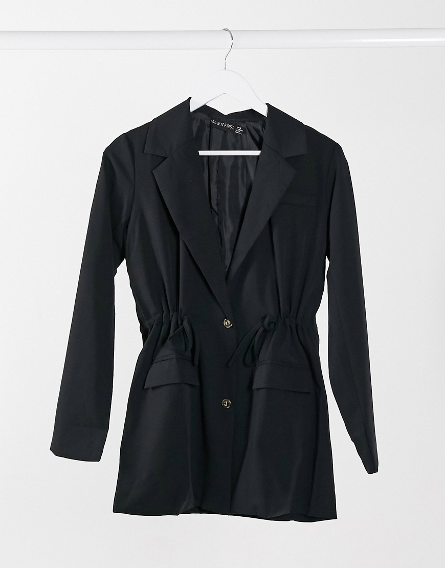 I Saw It First - Sort blazer med utility-detalje i taljen