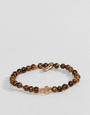 Icon Brand beaded bracelet with cross charm
