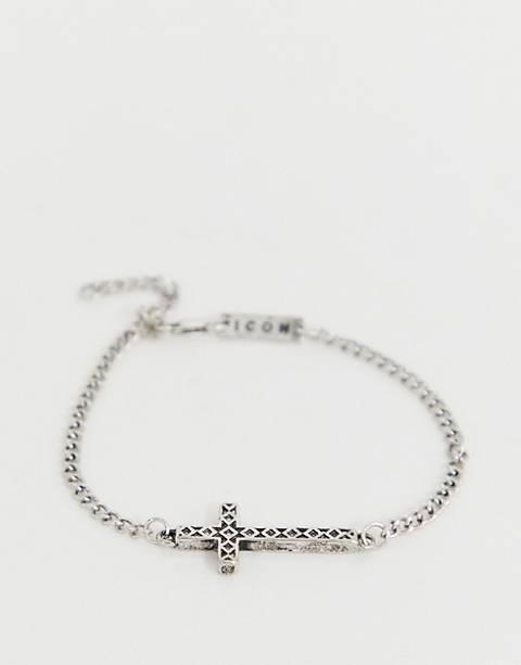 Icon Brand - Bracelet croix - Argenté