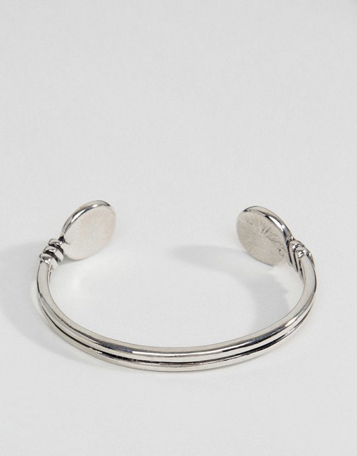 1cc410ea464 Icon Brand bullet cuff bangle bracelet in silver | ASOS