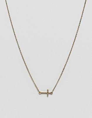 Icon Brand - Gouden ketting met kruisbedeltje