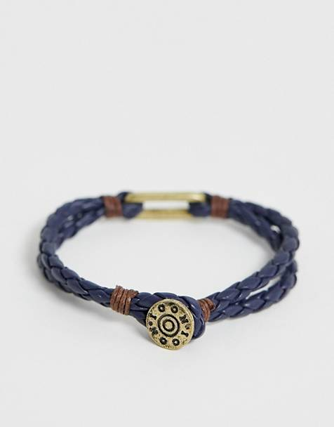 Icon Brand plaited bracelet in blue