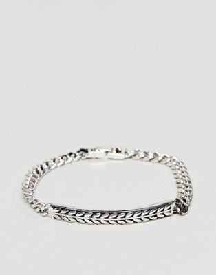 Icon Brand Premium antique silver id bracelet