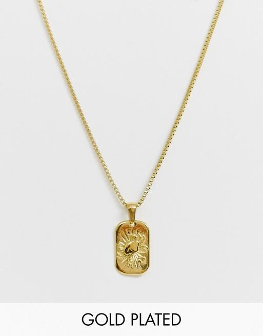 Image Gang – Goldgefüllte Halskette mit Krebs-Sternzeichen