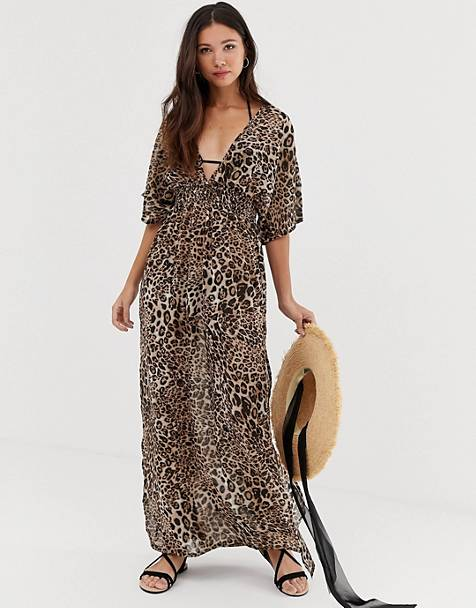 Influence leopard print beach maxi dress