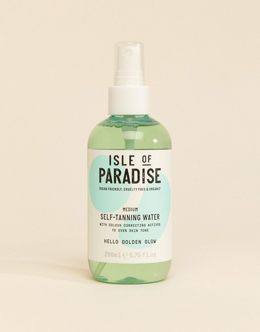 Isle of Paradise – Self Tanning Water – Medium 200}ml
