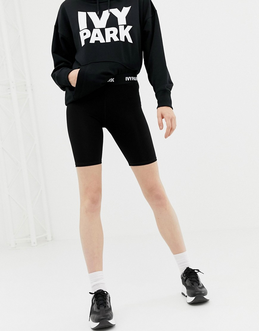 Ivy Park Legging Shorts In Black by Ivy Park