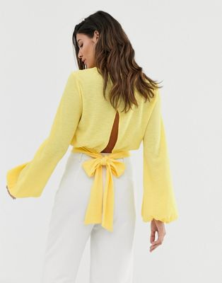Ivyrevel Cropped Top with Tie Back