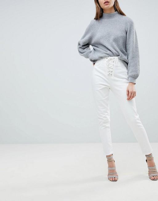 Afbeelding 1 van Ivyrevel - Jean met kant aan de voorzijde