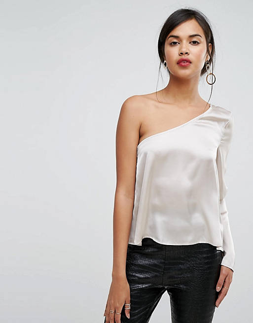 Ivyrevel One Sleeved Satin Top