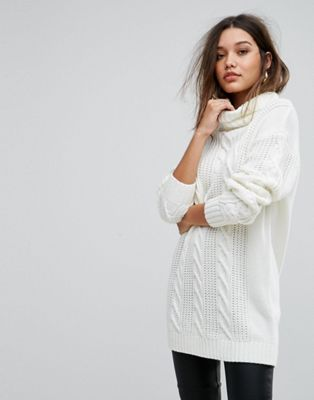 Ivyrevel Oversized Cable Knit Jumper With High Neck