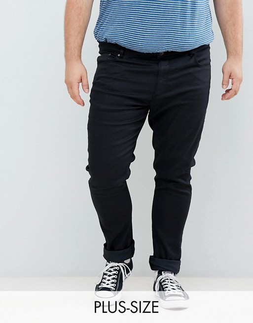 Jacamo Skinny Fit Jeans In Black Wash