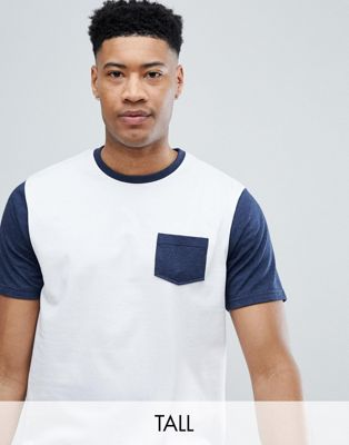 Jacamo T-Shirt With Contrast Sleeve And Pocket