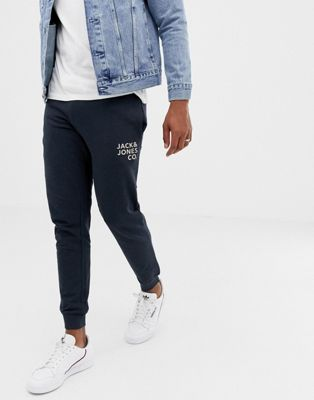Jack and Jones – Joggingbyxor med smal passform och muddar
