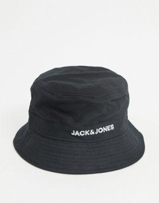 Jack & Jones – Anglerhut in Schwarz