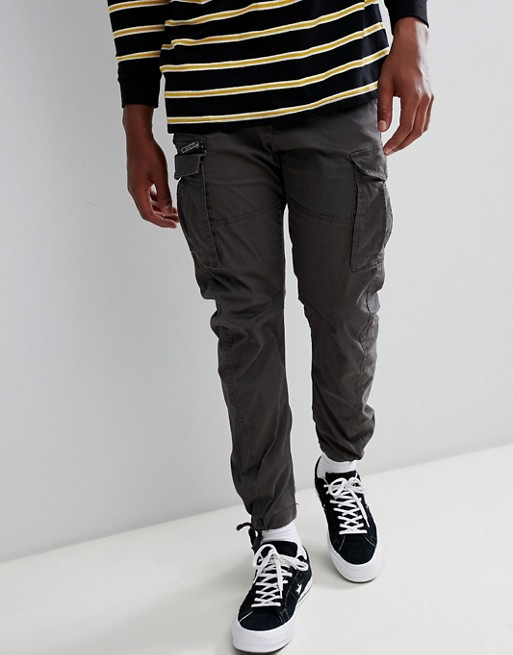 Image 1 of Jack & Jones cargo pants in slim fit with drawstring ankle