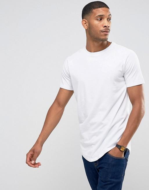 d61ec5dab2a044 Jack   Jones Core longline t-shirt with raglan sleeve