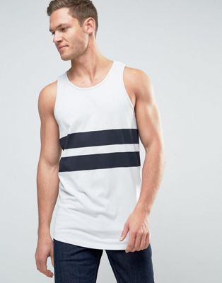 Image 1 of Jack & Jones Core Tank with Printed Stripe