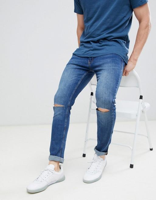 Knie in Mittelblau am Jack Riss Enge blau amp; Jeans Jones mit nCZO0HCqw
