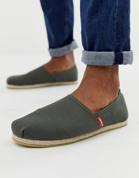 Jack & Jones – Espadrilles in Olivgrün