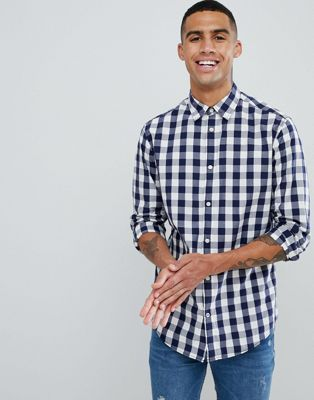 Jack & Jones - Essentials - Slim-fit overhemd met gingham-ruit